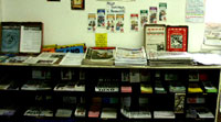 The many pamphlets, magazines and newspapers available for reading in the resource centre