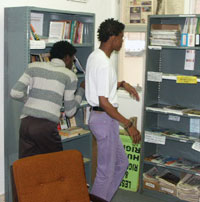 The library provides appropriate and meaningful reading for visitors to the centre